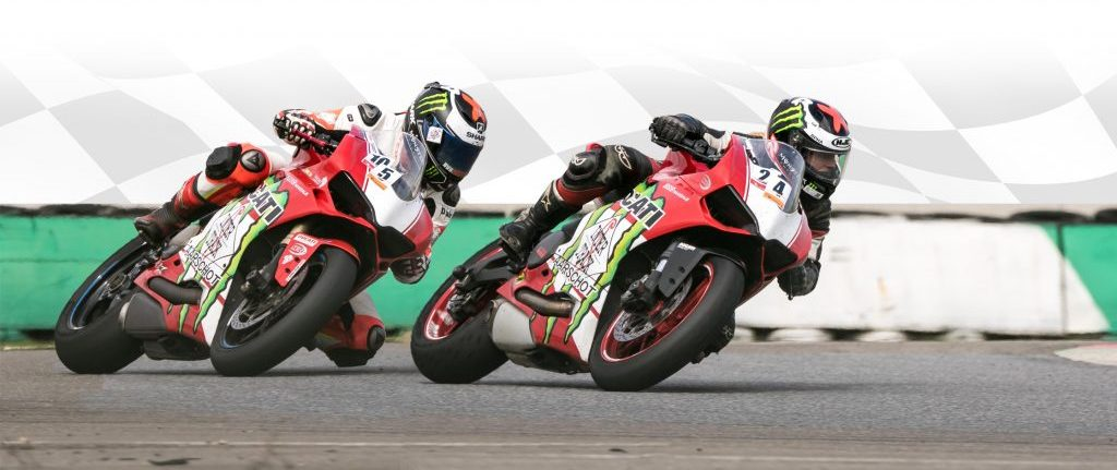 Inter-Track ducati riders on track