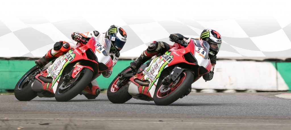 Inter-Track ducati riders on track