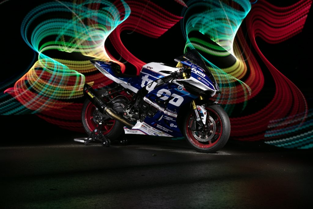 Lightpaint art photography of motorcycles #14