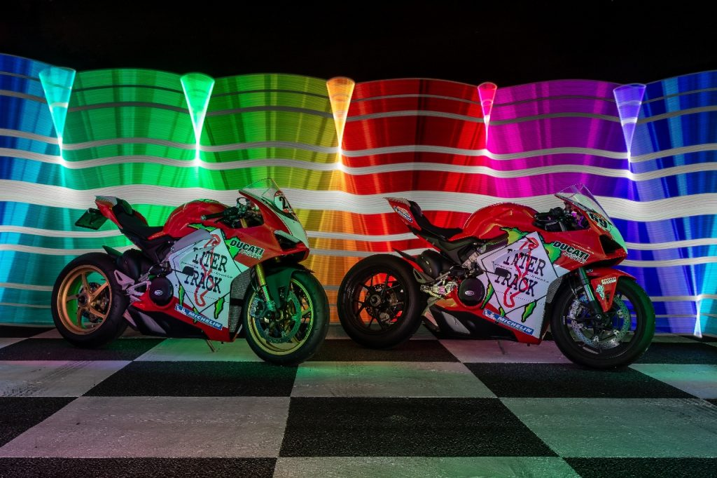 Lightpaint art photography of motorcycles #21