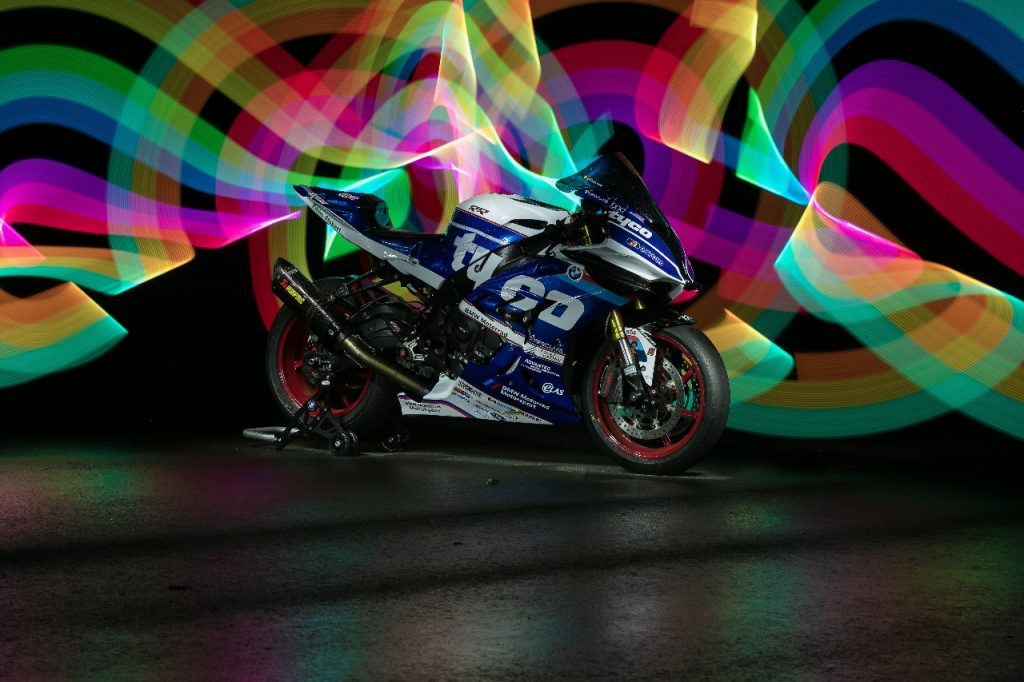 Lightpaint art photography of motorcycles #41