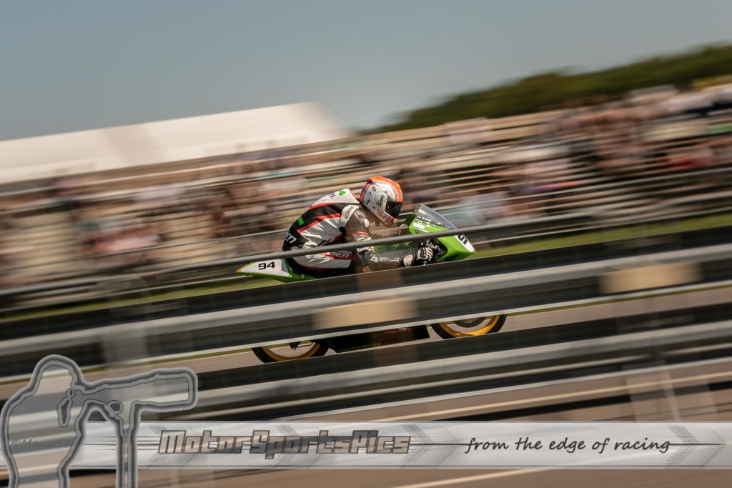 IRRC Roadracing at Hengelo showing speed in front of grandstand