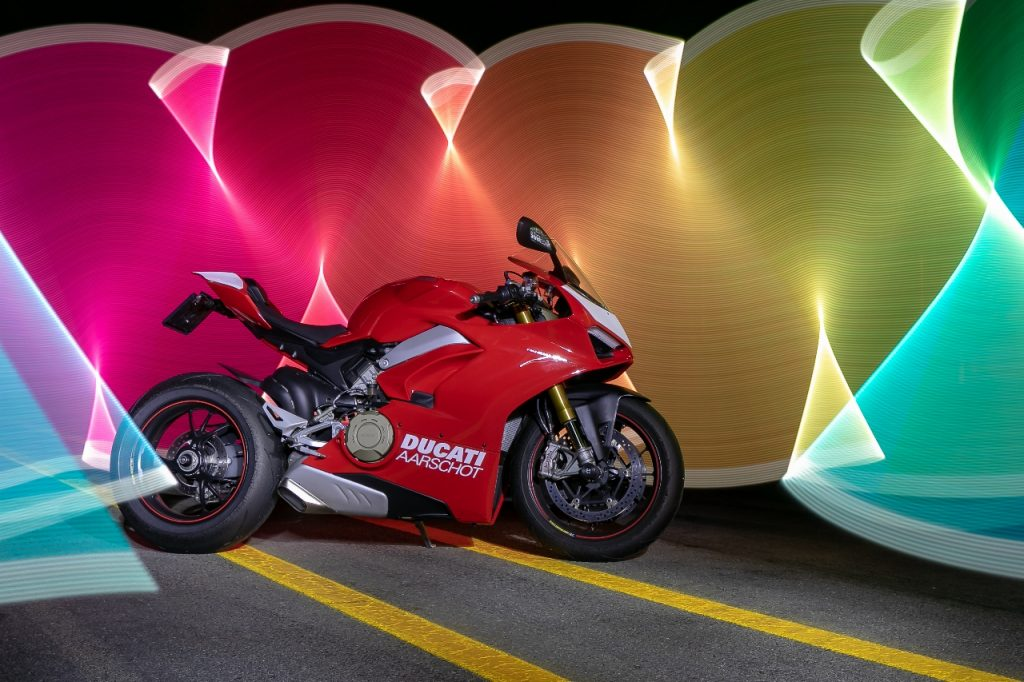 Lightpaint art photography of motorcycles #48